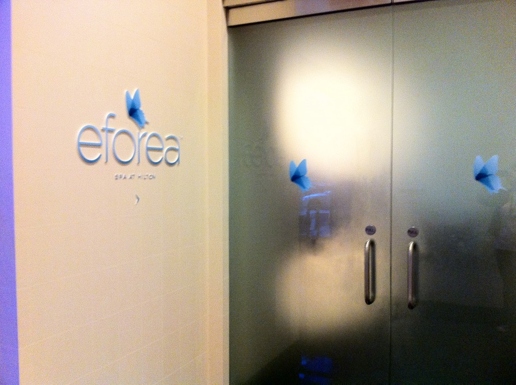 eforea entrance at Hilton Short Hills