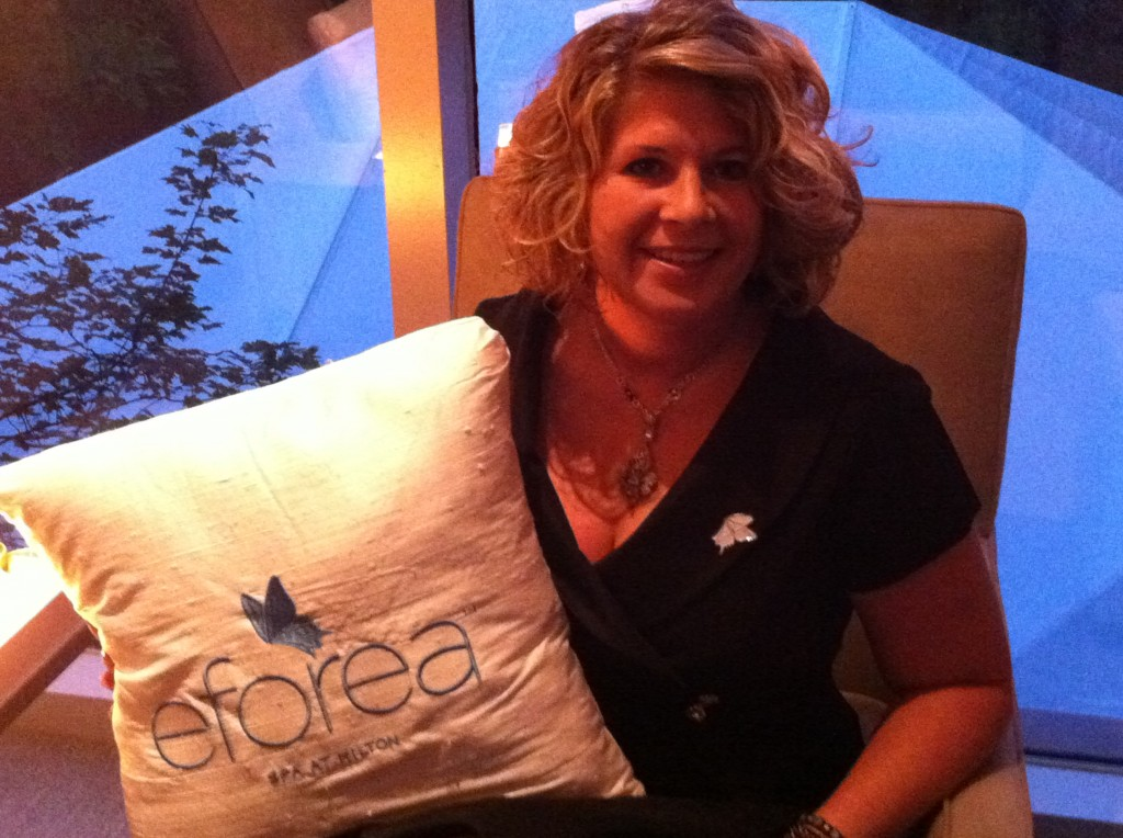 Shannon Hurst Lane at eforea spa at Hilton launch event